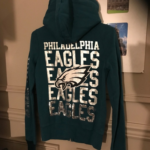 pretty nice 4cdf3 67acd VS Pink Philadelphia Eagles Zip up